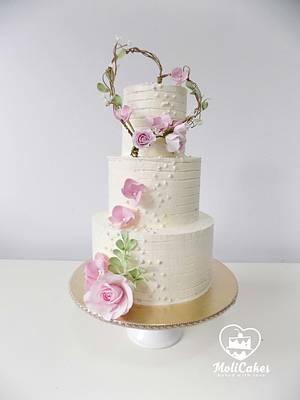 Wedding heart  - Cake by MOLI Cakes