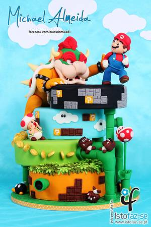 SUPER MARIO - The Sugar Fraternity GAME ON! Collaboration  - Cake by Michael Almeida