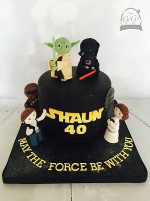 Star Wars 40th Birthday Cake - Cake by Natasha Thomas