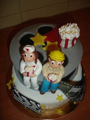 Cinema Wedding cake - Cake by Vera Santos