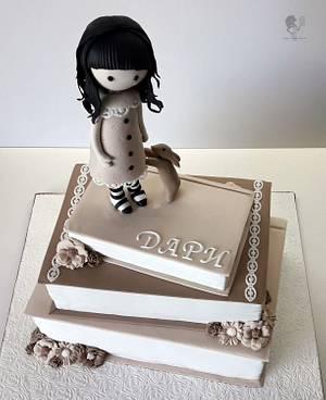 Gorjuss & little rabbit - Cake by Antonia Lazarova