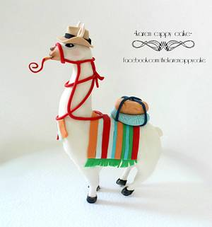 Fiesta Llama - Cake by Karen Leong