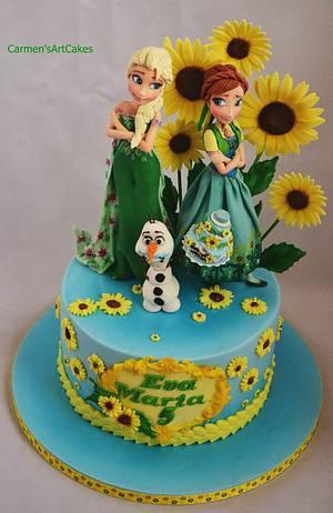 Frozen Fever - Cake by Carmen Iordache