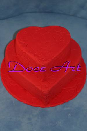 Hearts full of love - Cake by Magda Martins - Doce Art
