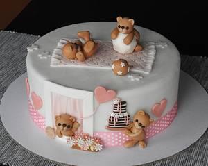 Double christening - Cake by MartaMc