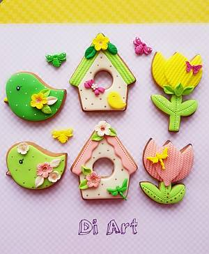 Spring cookies!🦆 - Cake by DI ART