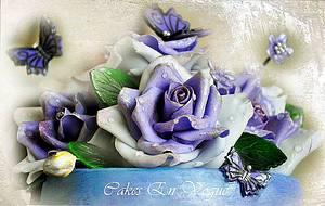 Morning Dew Roses  - Cake by Cakes en Vogue