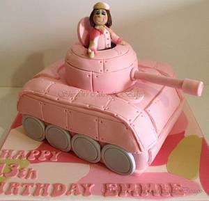 Girl Army Tank Cake - Cake by Shereen