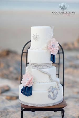 Shipwrecked wedding cake - Cake by Sara & Soha Cakes - i.e. Gourmelicious