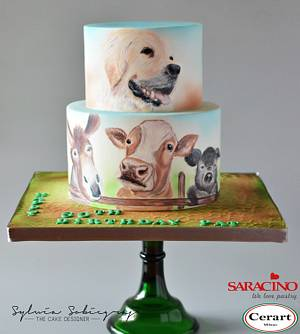Hand painted cake for a farmer - Cake by Sylwia Sobiegraj The Cake Designer