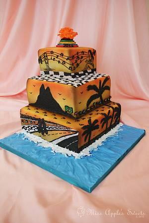 Ipanema Beach Wedding Cake - Cake by Karen Dourado