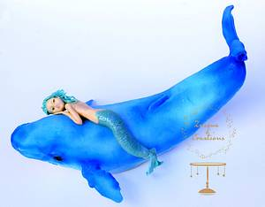 Under The Sea Sugar Art Collaboration - Mermaid & Whale - Cake by Znique Creations