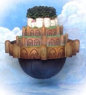Laputa Castle-Spirited Away collaboration  - Cake by Lynnsmith