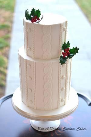 Sweater knit cake - Cake by Elisabeth Palatiello