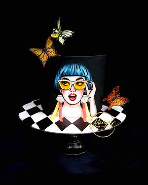 Butterfly girl - Cake by Mariya's Cakes & Art