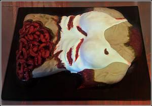 Walking Dead Zombie Corpse  - Cake by The Sweetpea Kitchen