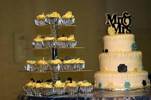 Winter snowflake wedding cake - Cake by m1bame