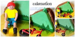 Mountain Biking Cake - Cake by Cakenation