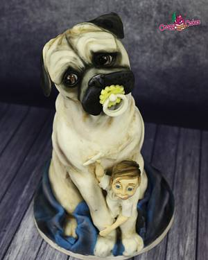 mops and boy - Cake by crazycakes