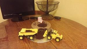 Simple diggin' dirt cake - Cake by m1bame