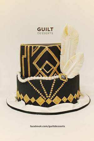 Great Gatsby - Cake by Guilt Desserts
