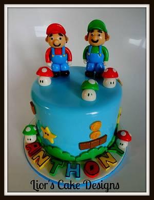 Mario and Luigi - Cake by Lior's Cake Designs