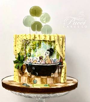 Bathtub cake - Cake by Pucci Cakes Co
