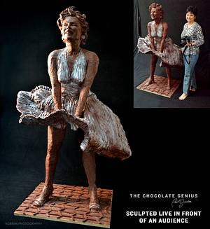 Marilyn Life-Size in Modeling Chocolate - Cake by Paul Joachim