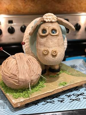 Knitted Sheep Cake - Cake by Ventidesign Cakes