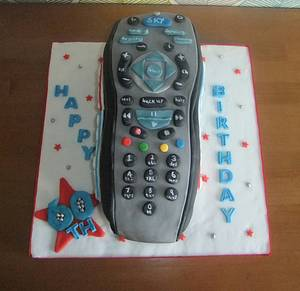 TV remote control 60th cake  - Cake by Truly Scrumptious Cakes by Christine