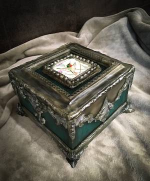 Jewellery box cake with painting - Cake by  Sue Deeble