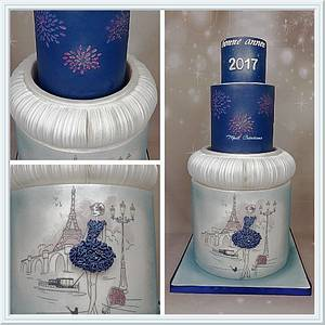 Happy new year Paris - Cake by Cindy Sauvage