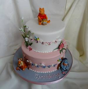 Winnie the Pooh & Friends go to the Christening - Cake by Fifi's Cakes