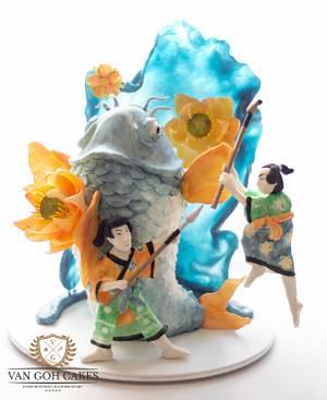 Make Art Not War - Cake by Van Goh Cakes