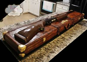 Groom's Hunting Rifle and Case - Cake by Peggy Does Cake