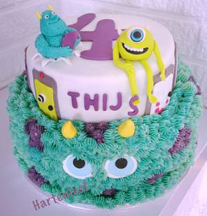 Monsters Inc Cake - Cake by Hartenlust