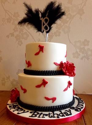 Shoe Theme 21st Birthday Cake - Cake by Mimi's Sweet Treats