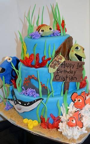 Finding Nemo Birthday Cake - Cake by Jenny Kennedy Jenny's Haute Cakes