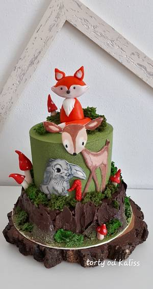 Birthday with forest animals - Cake by Kaliss