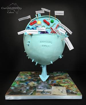 """""""gravity defying"""" Animal cell cake - Cake by CuriAUSSIEty  Cakes"""