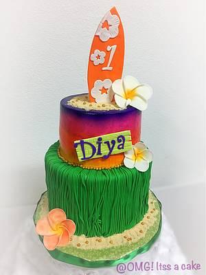 HAWAIIAN THEME - Cake by OMG! itss a cake