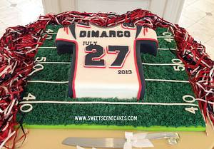 Patriots Jersey grooms cake - Cake by Sweet Scene Cakes