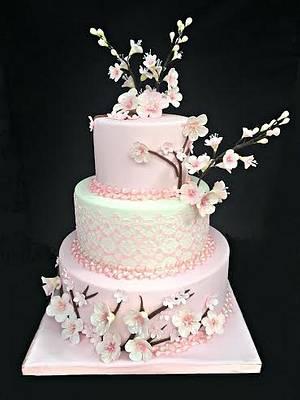 Cherry Blossom Cake - Cake by Lea's Sugar Flowers
