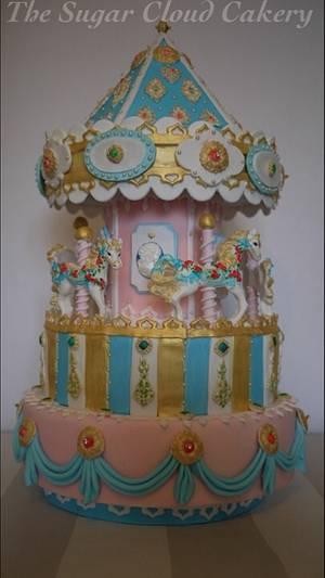 Fairground carousel cake  - Cake by The sugar cloud cakery