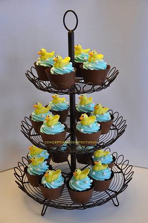 Duck Baby Shower Cupcake - Cake by Jessica