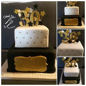 Gold 30 - Cake by CandyGirl24