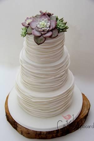 Succulent Wedding Cake - Cake by Little Cake Cupboard