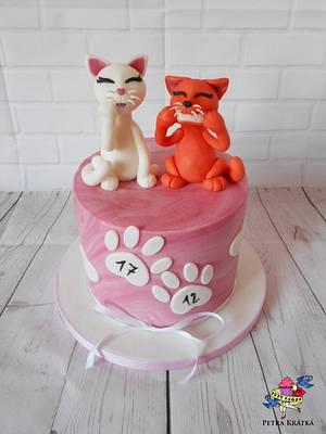 2 kitties for 2 sisters - Cake by Petra Krátká (Petu Cakes)