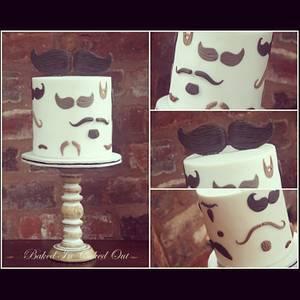 Moustache Cake - Cake by Bakedincakedout