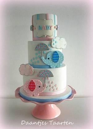 Gender reveal cake - Cake by Daantje